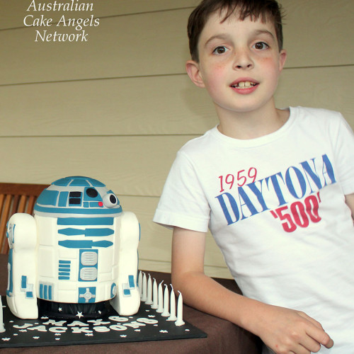 Jackson with R2D2