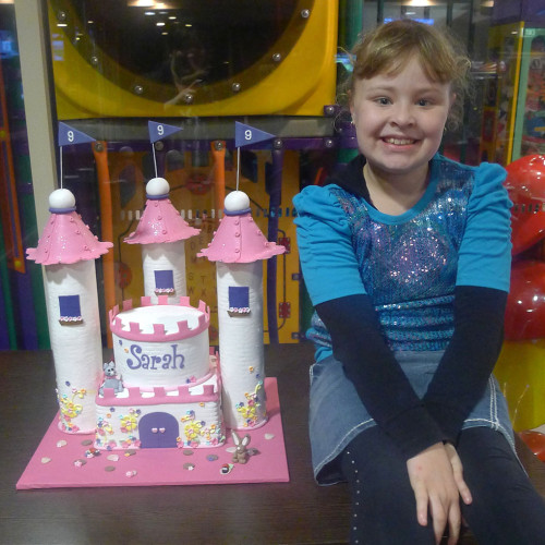 Sarah and her Castle Cake